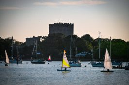 portchester castle from portsmouth harbour